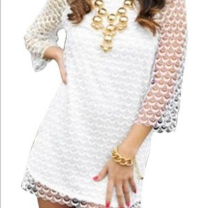 Ark & Co white mini dress size L fits like M